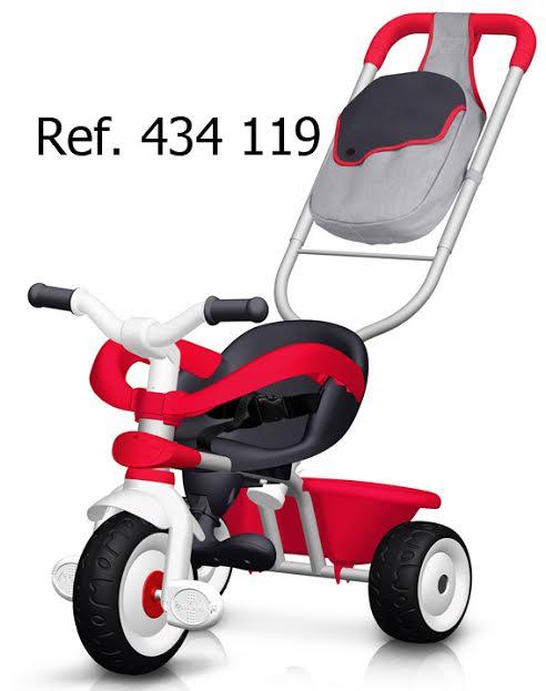 SMOBY 434119 Tricikli Baby Driver tolókarral, kerettel, piros 70*50*52 cm