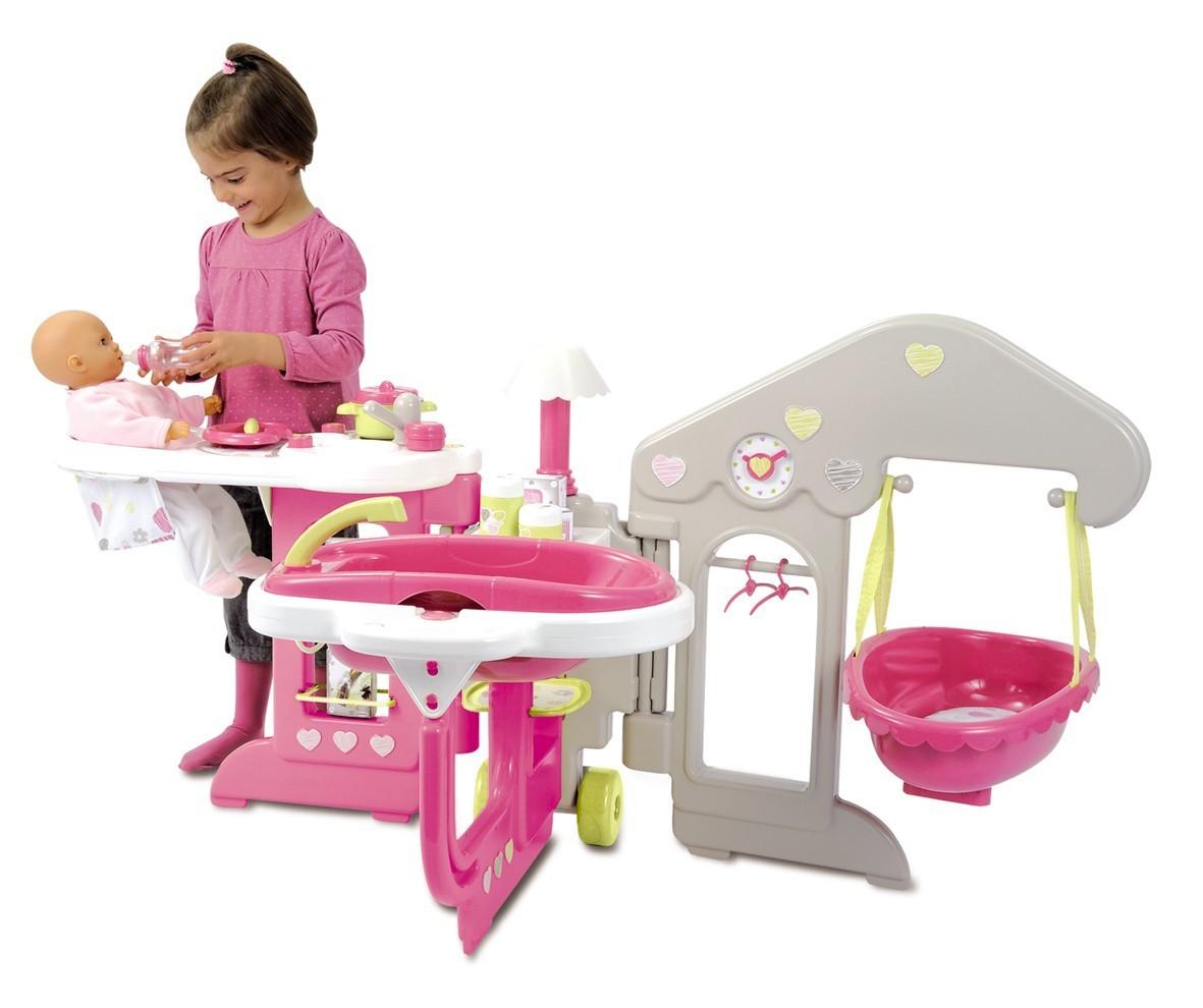 SMOBY 24391 Baby Nurse domeček pro panenku 135 cm Nursery House, poskládané má rozměry: 66 cm výška *52 cm šířka *69 cm délka