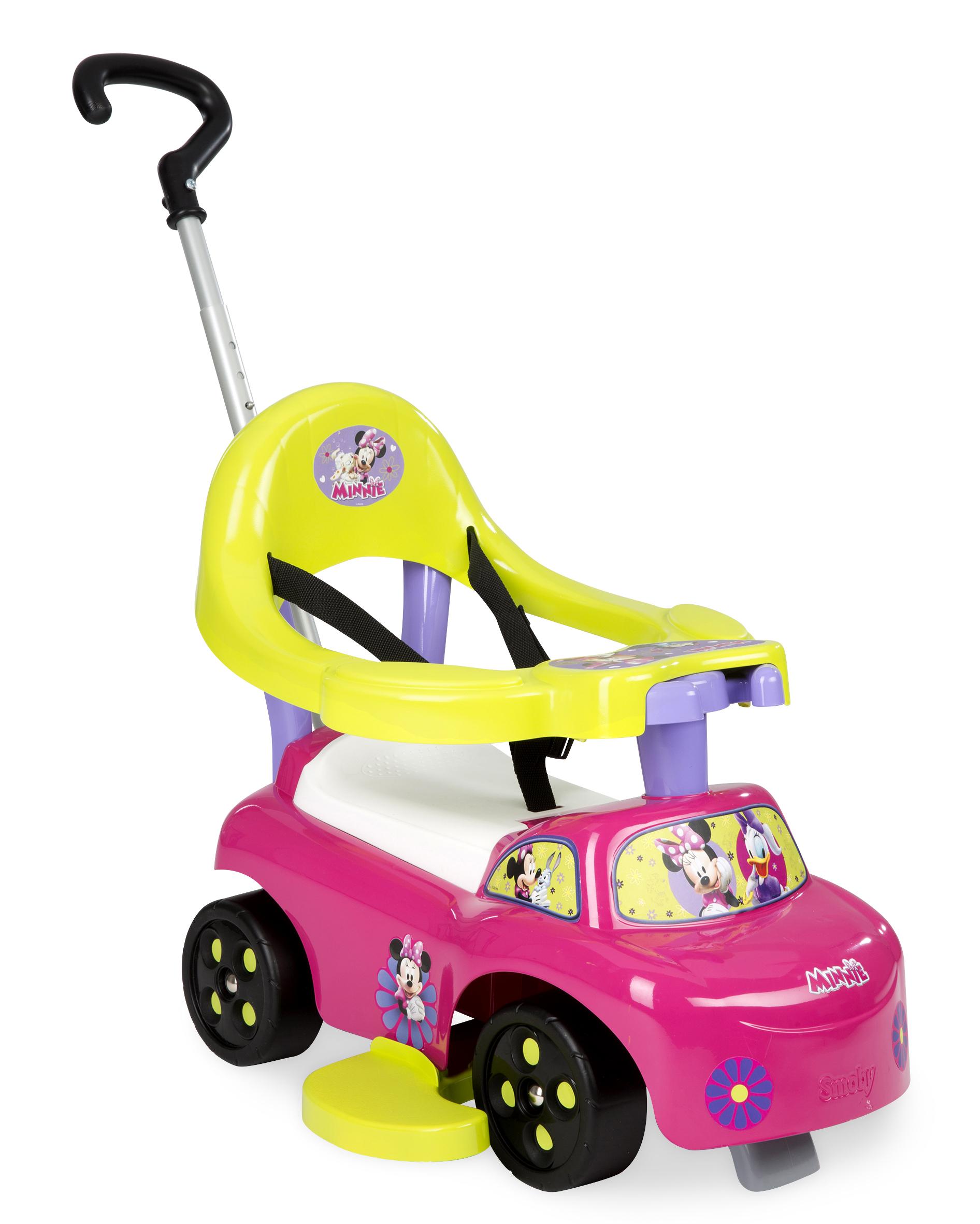 SMOBY 445008 Bébitaxi Minnie tolókarral és kerettel, rózsaszín, 6 hónapos kortól, 54*41*46 cm
